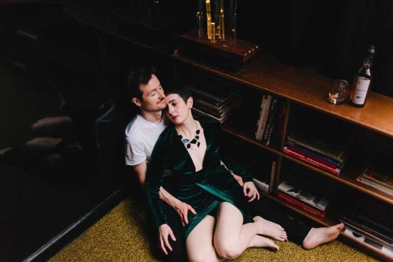 A Night Out - a dark and sophisticated couple session in Paris